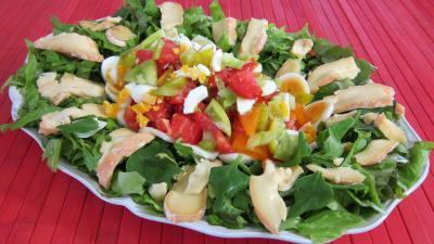 Tétragone : Assiette de tétragone en salade