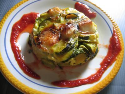 Cuisine diététique : Assiette de clafoutis aux courgettes