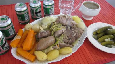 Jarret de porc : Assiette de hochepot façon brugeoise