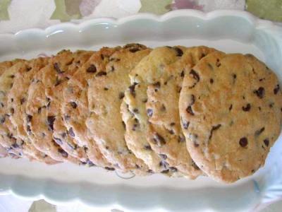 Image : Assiette de cookies croustillants aux pépites de chocolat