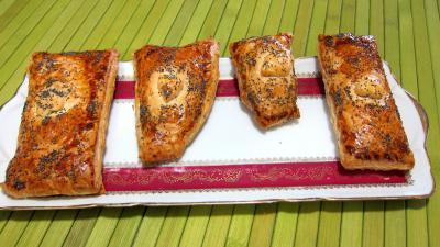 pâte feuilletée : PLat d'allumettes à l'emmental