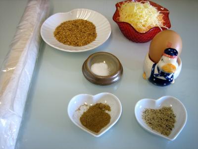 Ingrédients pour la recette : Croissants à l'emmental et graines de sésame