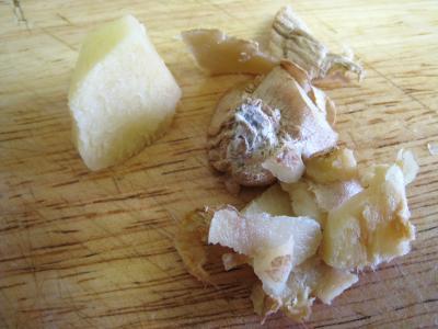 Crumble aux haricots verts et sa crème d'ail - 1.3