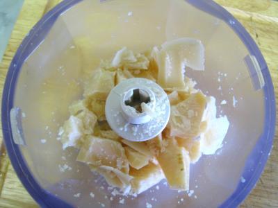 Crumble aux haricots verts et sa crème d'ail - 3.3
