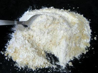 Crumble aux haricots verts et sa crème d'ail - 11.3