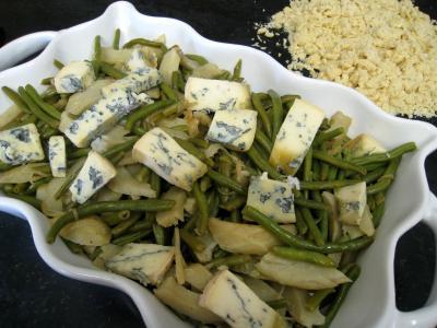 Crumble aux haricots verts et sa crème d'ail - 12.3