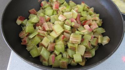 Rhubarbe, croustillants, granité pommes poires - 5.2