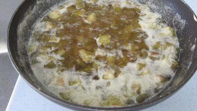 Rhubarbe, croustillants, granité pommes poires - 6.2