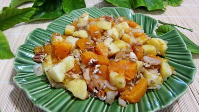Recette Citrouille et son magret en salade