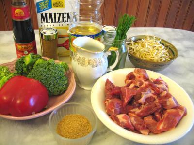 Ingrédients pour la recette : Dés de porc à la sauce d'huîtres