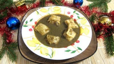 fond de veau : Assiette de capelleti et velouté champignons et laitues
