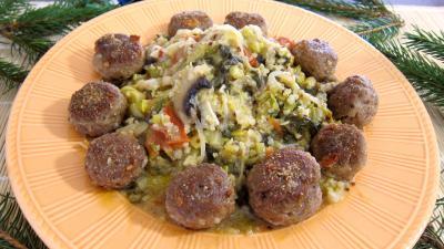 pineau des charentes : Assiette de quinoa aux poireaux et aux épinards
