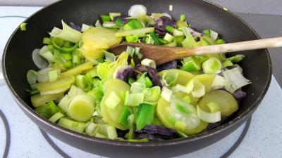 Vitelottes et légumes aux filets de dinde panés - 7.1