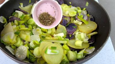 Vitelottes et légumes aux filets de dinde panés - 9.2