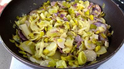 Vitelottes et légumes aux filets de dinde panés - 9.4