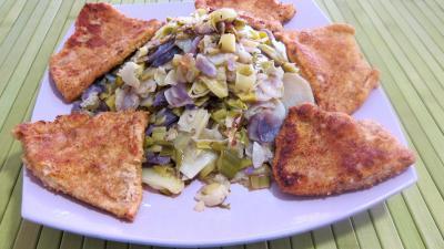Vitelottes et légumes aux filets de dinde panés - 11.2