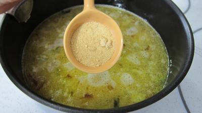 Crosnes et églefin (aiglefin) en risotto - 4.3