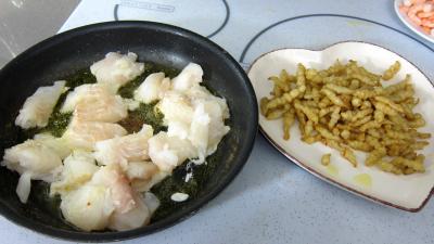 Crosnes et églefin (aiglefin) en risotto - 7.3