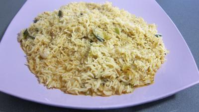 Crosnes et églefin (aiglefin) en risotto - 10.2