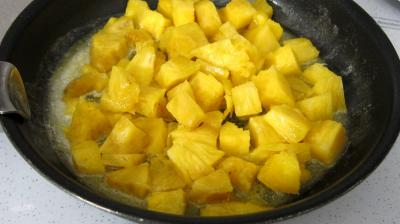 Tatin à l'ananas, fruit de la passion et bananes - 2.3