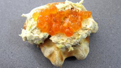 Gaufrettes aux oeufs de saumon - 7.2