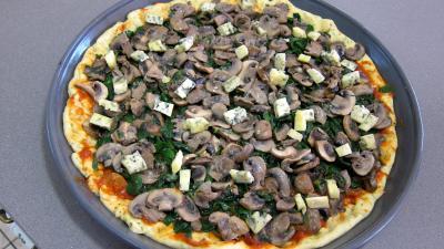 Pizza aux épinards et aux champignons - 8.4