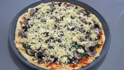 Pizza aux épinards et aux champignons - 9.2