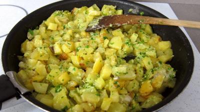 Crêpes farcies aux gésiers confits et pommes de terre - 7.4