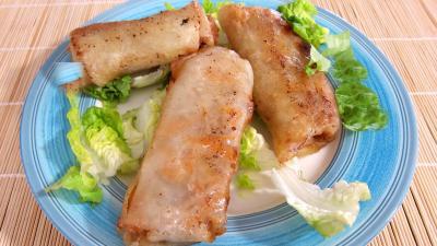 Recette Assiette de rouleaux de boeuf et de poulet à la chinoise