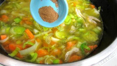 Bouillie ou potage aux carottes et aux oranges - 7.4