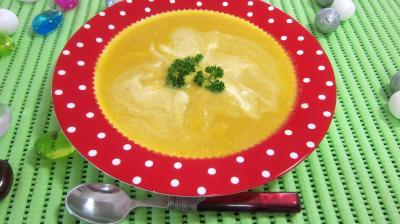 colombo épices : Assiette de bouillie aux carottes et aux oranges
