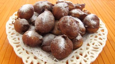 mardi gras : Assiette de pets de nonne