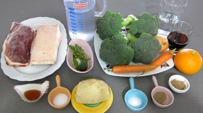 Ingrédients pour la recette : Magret au foie gras et aux brocolis