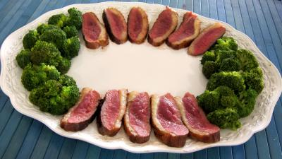Magret au foie gras et aux brocolis - 10.1