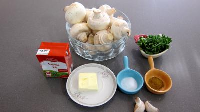 Ingrdients pour la recette : Sauce aux champignons