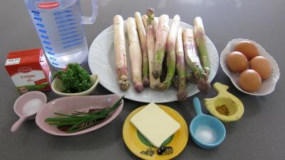 Ingrédients pour la recette : Flans d'asperges