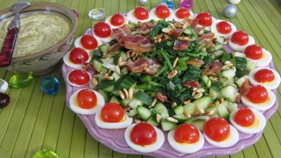 sauce mayonnaise aigre douce : Salade de broutes