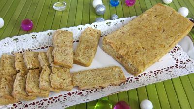 Oeufs : Plat de biscotti aux cacahètes