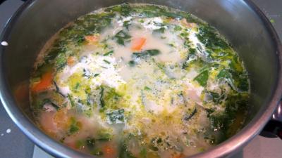 Broutes et blancs de poulet en soupe - 9.1