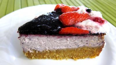 Gâteau aux fromages à la purée fraises, myrtilles, cassis Vitabio - 12.2