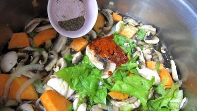 Fines herbes et légumes en velouté - 7.2