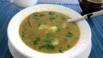 Recette Soupire de fines herbes et lgumes en velout