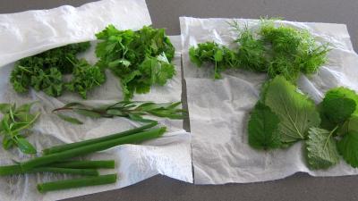 Couscous, légumes, fines herbes et gambas - 1.3