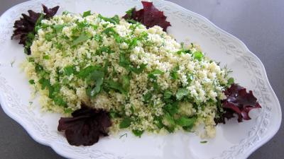 Couscous, légumes, fines herbes et gambas - 6.3