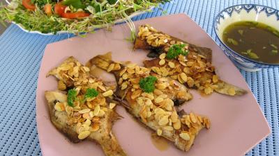 Recette Assiette de limandes et sa salade de pousses de bambou et graines germées