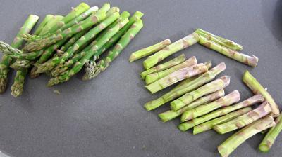 Pousses de bambou et asperges gratinées - 2.3