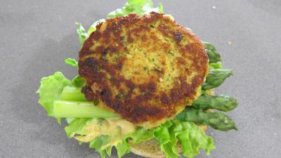Hamburgers au cabillaud et aux asperges - 10.3