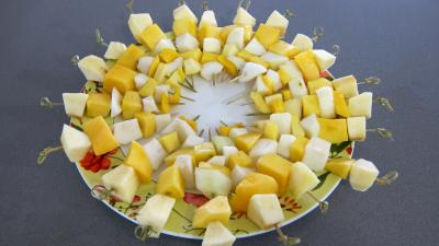 Recette Pain perdu et ses brochettes de fruits à la plancha