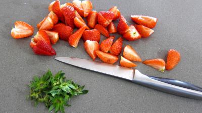 Ananas à la plancha et sa sauce aux fraises - 1.1