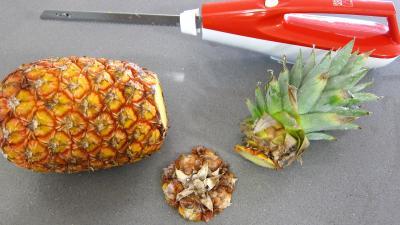 Ananas à la plancha et sa sauce aux fraises - 4.3